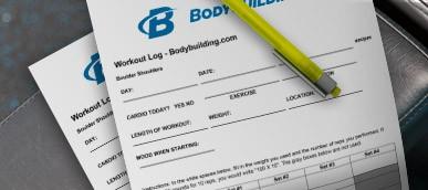 Workout, Nutrition, Supplement & Measurement Logs