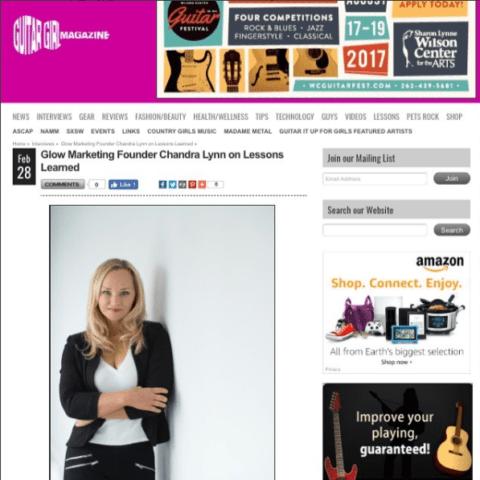 Guitar Girl Magazine Interviews Chandra Lynn